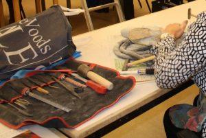 Gereedschap beeldhouwen voor het bewerken van speksteen, albast, serpentijn en seleniet