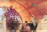 Onbewuste rivalen geschilderd door Lawrence Alma Tadema
