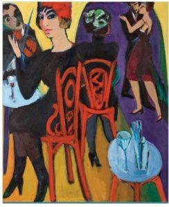Jan Wiegers, Music Hall, was en olieverf op doek, collectie Max Cohen
