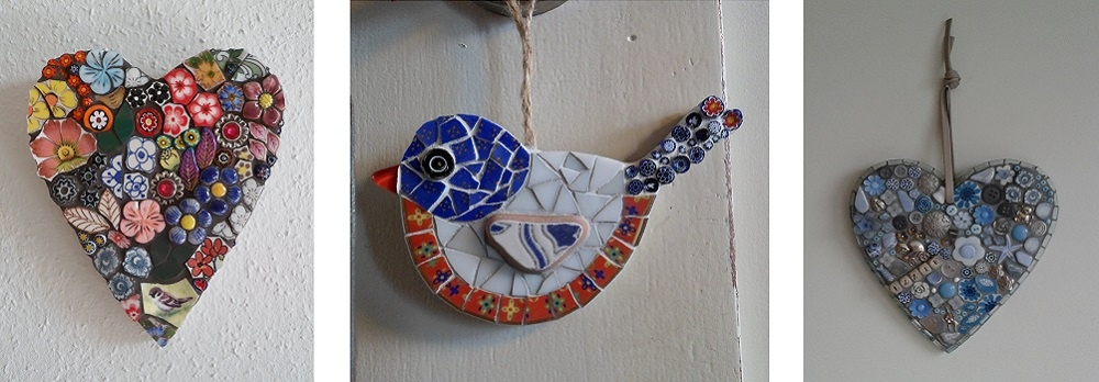 mozaiek werk van cursisten