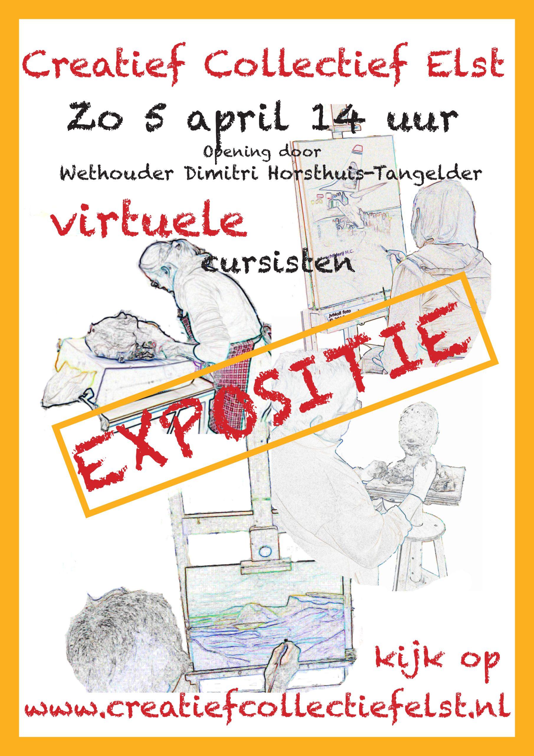 Affiche Viruuele cursisten expositie 2020